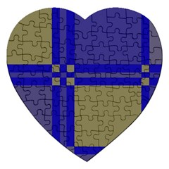 Blue design Jigsaw Puzzle (Heart)
