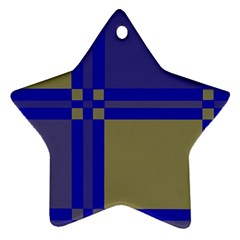 Blue design Star Ornament (Two Sides)