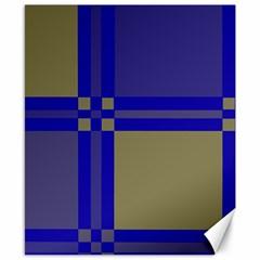 Blue design Canvas 8  x 10