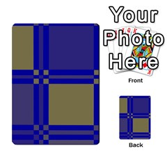 Blue design Multi-purpose Cards (Rectangle)