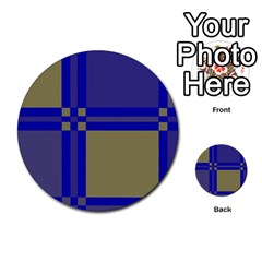 Blue design Multi-purpose Cards (Round)