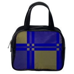 Blue design Classic Handbags (One Side)
