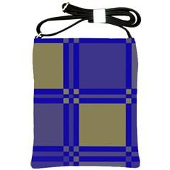Blue design Shoulder Sling Bags
