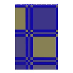 Blue design Shower Curtain 48  x 72  (Small)