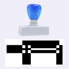 Blue design Rubber Stamps (Large)