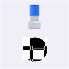 Blue design Rubber Round Stamps (Small)