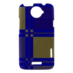 Blue design HTC One X Hardshell Case