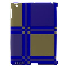 Blue design Apple iPad 3/4 Hardshell Case (Compatible with Smart Cover)