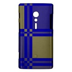 Blue design Sony Xperia ion
