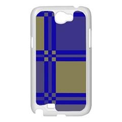 Blue design Samsung Galaxy Note 2 Case (White)