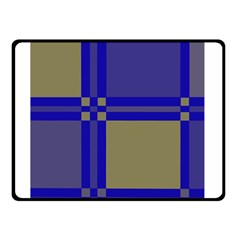 Blue design Double Sided Fleece Blanket (Small)