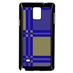 Blue design Samsung Galaxy Note 4 Case (Black)