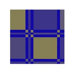 Blue design Small Satin Scarf (Square)