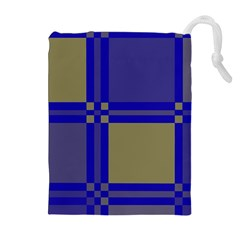 Blue design Drawstring Pouches (Extra Large)