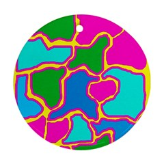 Colorful abstract design Ornament (Round)