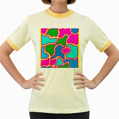 Colorful abstract design Women s Fitted Ringer T-Shirts