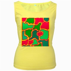 Colorful abstract design Women s Yellow Tank Top