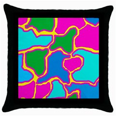 Colorful abstract design Throw Pillow Case (Black)