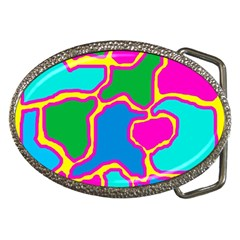 Colorful abstract design Belt Buckles