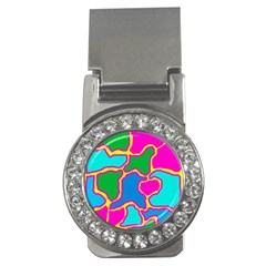 Colorful abstract design Money Clips (CZ)
