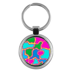 Colorful abstract design Key Chains (Round)