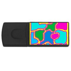 Colorful abstract design USB Flash Drive Rectangular (2 GB)