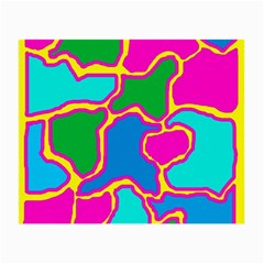 Colorful abstract design Small Glasses Cloth