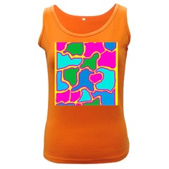 Colorful abstract design Women s Dark Tank Top