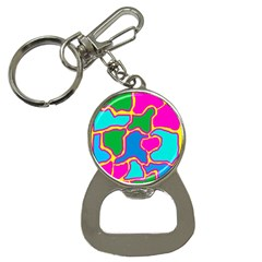 Colorful abstract design Bottle Opener Key Chains