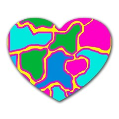 Colorful abstract design Heart Mousepads