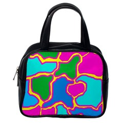 Colorful abstract design Classic Handbags (One Side)