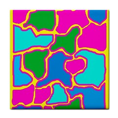 Colorful abstract design Face Towel