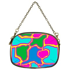 Colorful abstract design Chain Purses (One Side)