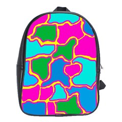 Colorful abstract design School Bags(Large)
