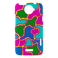 Colorful abstract design HTC One X Hardshell Case