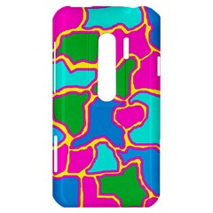 Colorful abstract design HTC Evo 3D Hardshell Case