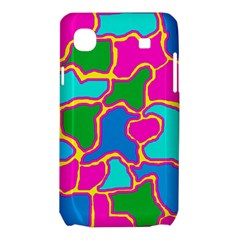 Colorful abstract design Samsung Galaxy SL i9003 Hardshell Case