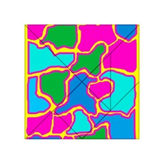 Colorful abstract design Acrylic Tangram Puzzle (4  x 4 )