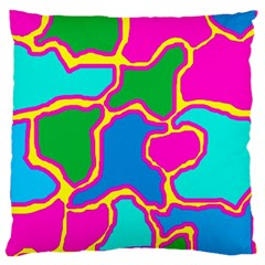 Colorful abstract design Large Cushion Case (One Side)