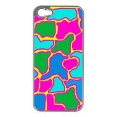 Colorful abstract design Apple iPhone 5 Case (Silver)