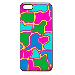 Colorful abstract design Apple iPhone 5 Seamless Case (Black)