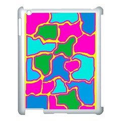 Colorful abstract design Apple iPad 3/4 Case (White)