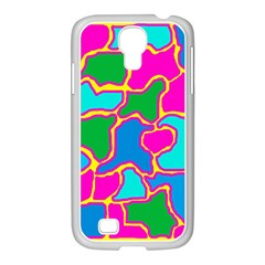 Colorful abstract design Samsung GALAXY S4 I9500/ I9505 Case (White)