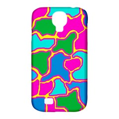Colorful abstract design Samsung Galaxy S4 Classic Hardshell Case (PC+Silicone)