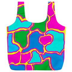 Colorful abstract design Full Print Recycle Bags (L)