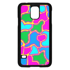 Colorful abstract design Samsung Galaxy S5 Case (Black)