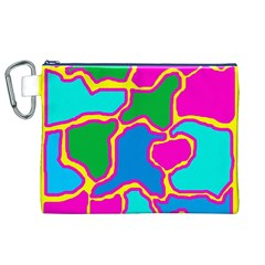 Colorful abstract design Canvas Cosmetic Bag (XL)