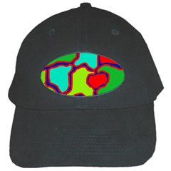 Colorful abstract design Black Cap