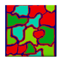 Colorful abstract design Tile Coasters