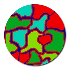 Colorful abstract design Round Mousepads